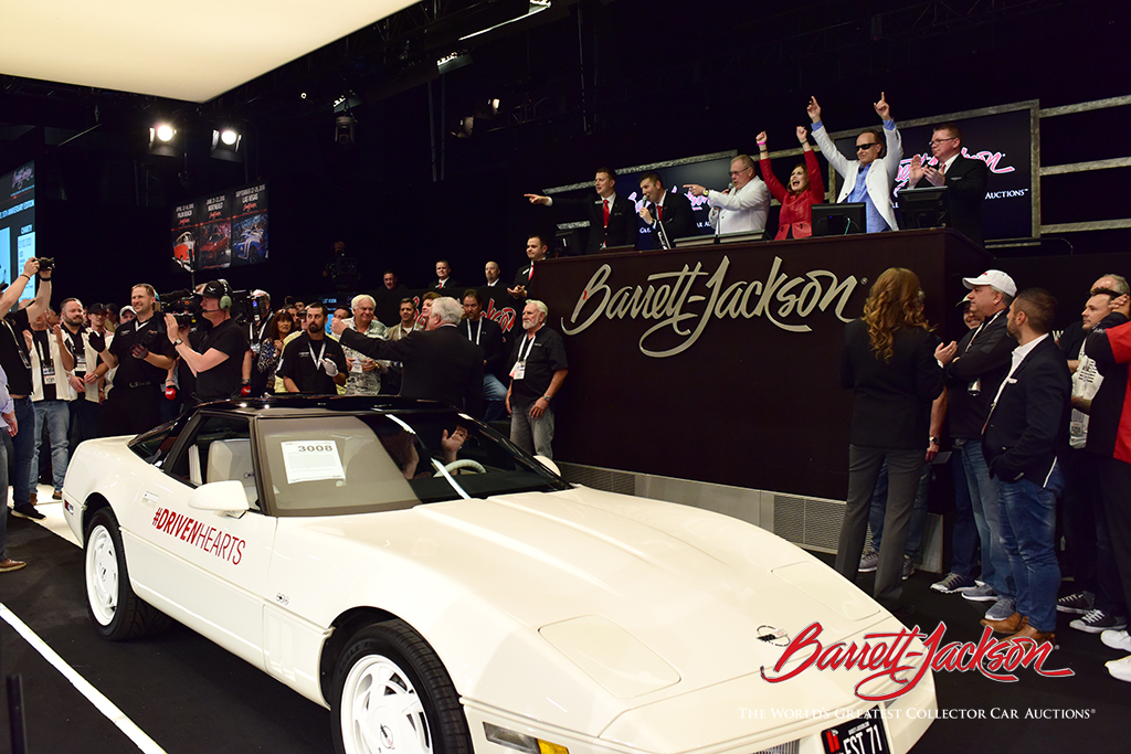 With American Heart Association CEO on the block, a 1988 35th Anniversary Corvette (Lot #3008) sold for $350,000 today for the AHA.