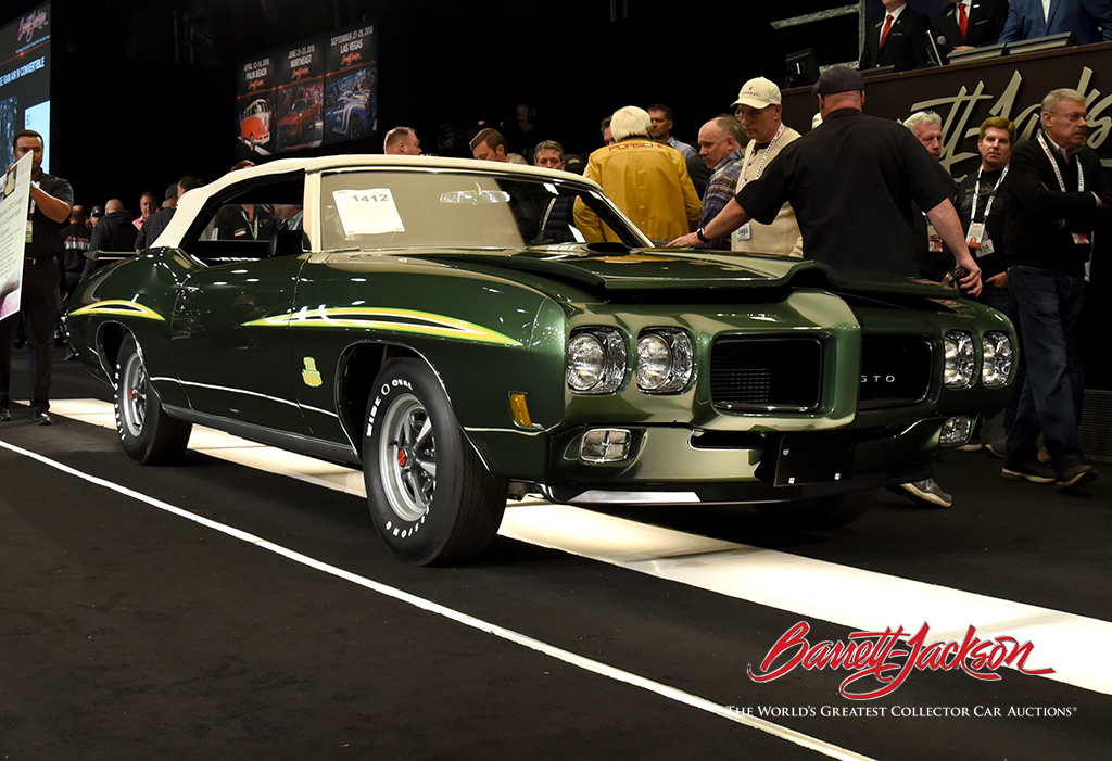 Lot #1412 - 1970 PONTIAC GTO JUDGE RAM AIR IV CONVERTIBLE - $440,000