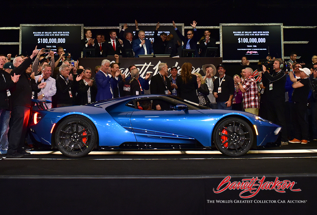 SOLD! A 2017 Ford GT (Lot #3010) raised $2.5 million for charity today.