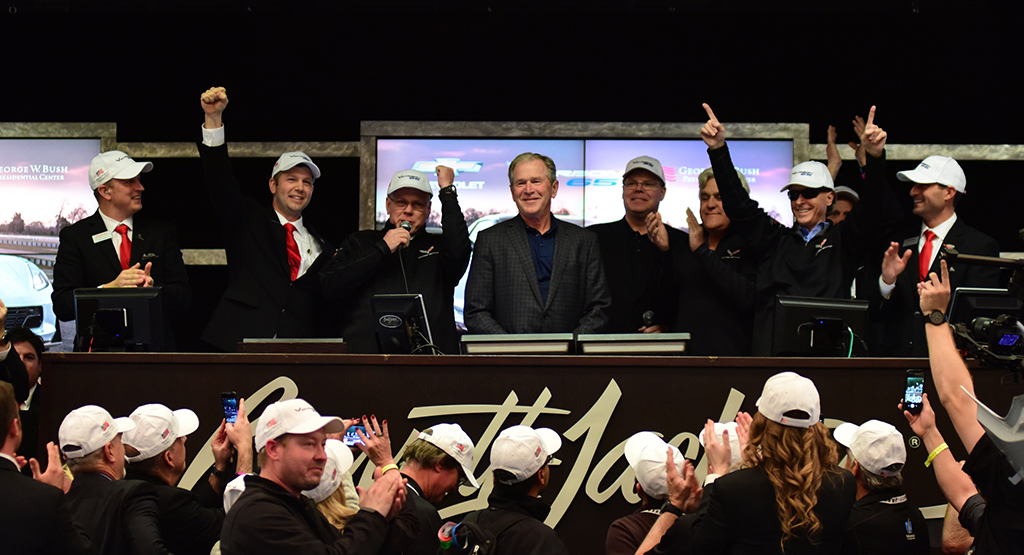 President George W. Bush at the 2018 Scottsdale Auction.