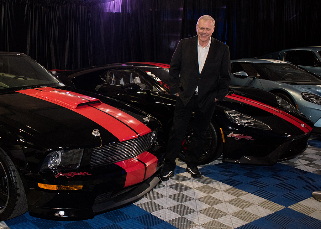Craig Jackson with his Barrett-Jackson Edition 2008 Ford Shelby GT and his matching 2017 Ford GT.