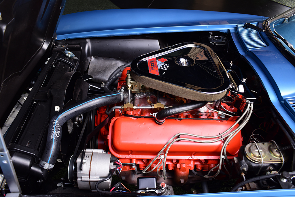 The 427ci big-block engine under the hood of a 1967 Chevrolet Corvette Convertible (Lot #710) coming to Palm Beach at No Reserve pumps out 435hp.
