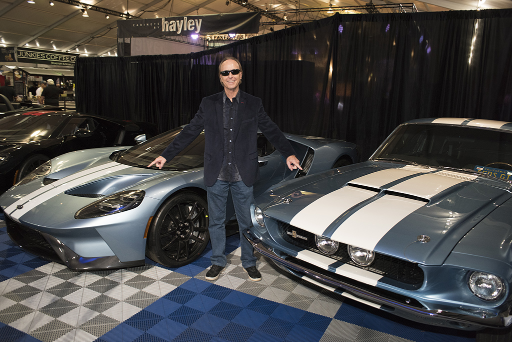 Steve Davis with his Brittany Blue 2017 Ford GT and 1967 Shelby GT350.