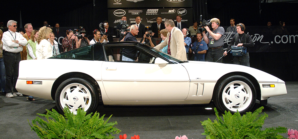 The 1988 35th Anniversary Corvette (Lot #3001) was gifted on the auction block by the late Dave Ressler to Craig Jackson and his mother Nellie.