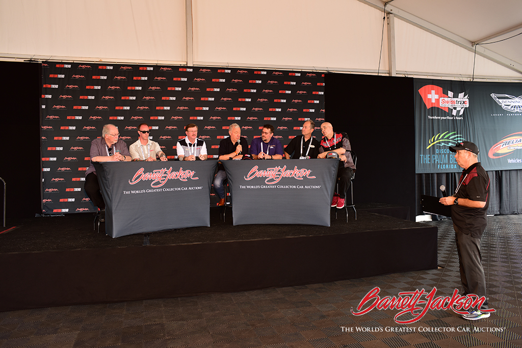 The Barrett-Jackson Automotive Experts at the Behind The Hobby Collector Car Symposium this morning.