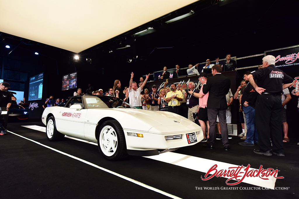 It was a celebration as Lot #3001, the Driven Hearts 35th Anniversary Corvette, made its second appearance on the block in two auctions, this time bringing in $200,000 for the American Heart Association.