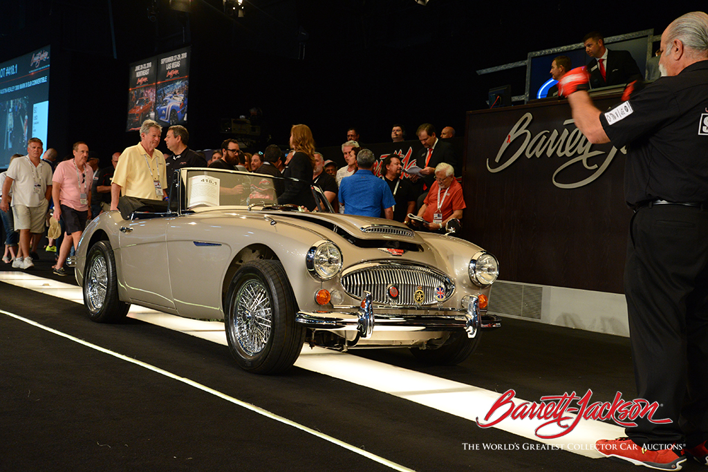 Today's top-selling car was a beautiful 1967 Austin-Healey 3000 Mark III BJ8 Convertible (Lot #418.1), which sold for $157,300.