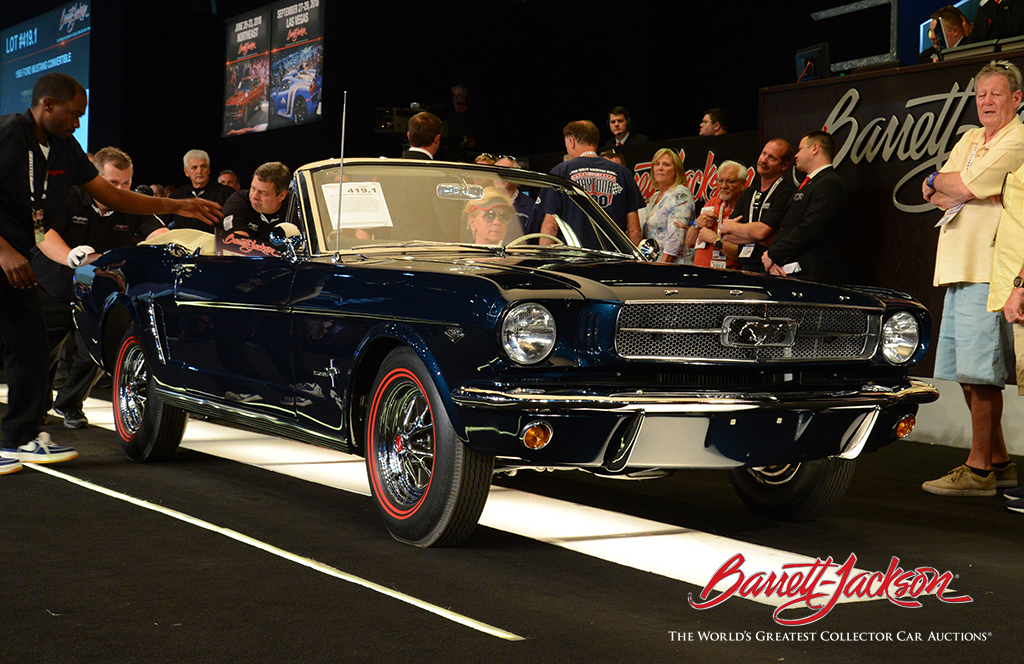 LOT #419.1 - 1965 FORD MUSTANG CONVERTIBLE - $104,500
