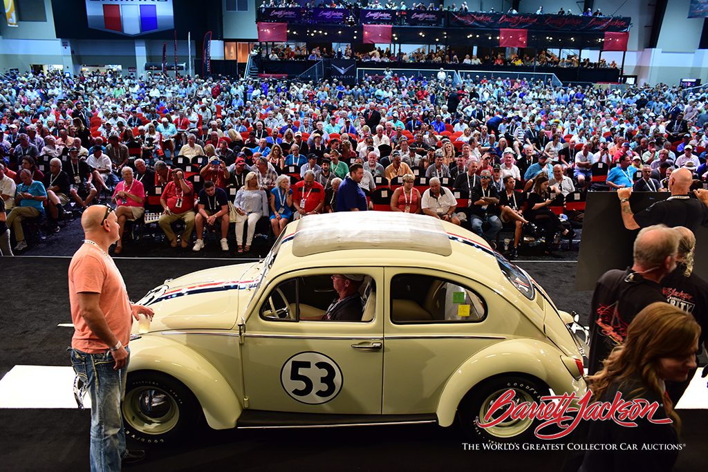 """LOT #703 – 1963 VOLKSWAGEN BEETLE """"HERBIE"""" - $128,700 (A NEW WORLD RECORD AT AUCTION)"""