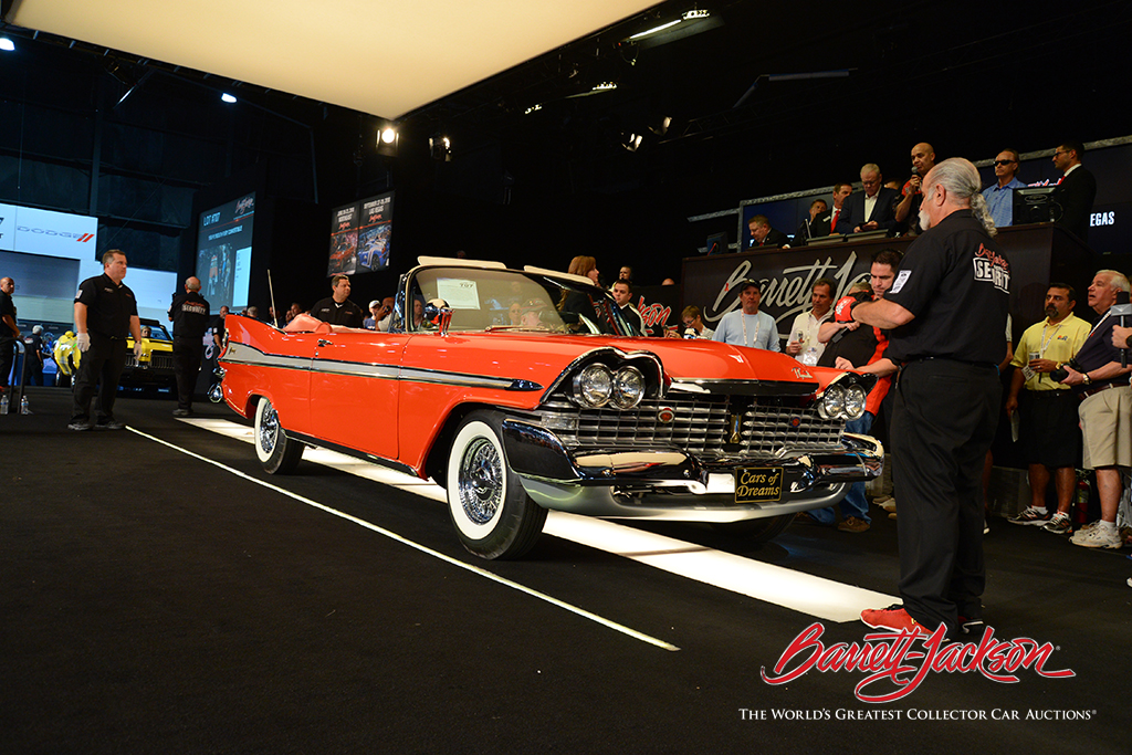 LOT #707 - 1959 PLYMOUTH FURY CONVERTIBLE (from the John Staluppi Cars of Dreams Collection) - $148,500 (A NEW WORLD RECORD AT AUCTION)