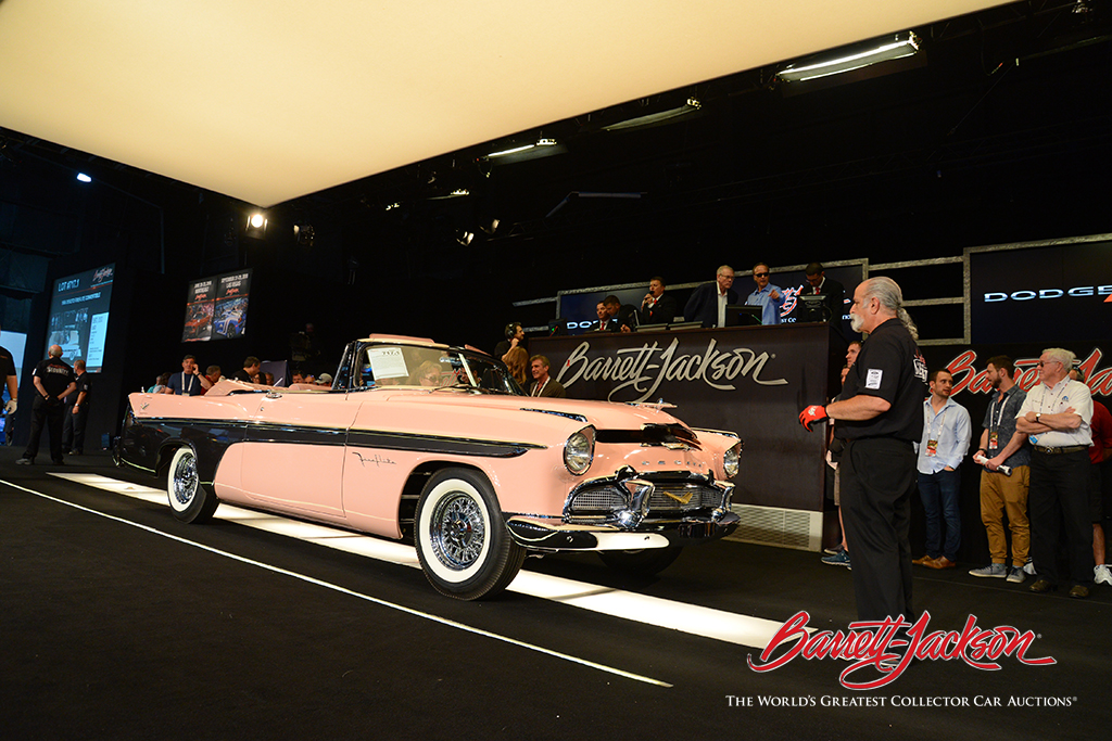 LOT #717.1 – 1956 DESOTO FIREFLITE CONVERTIBLE (from the John Staluppi Cars of Dreams Collection) – $225,500