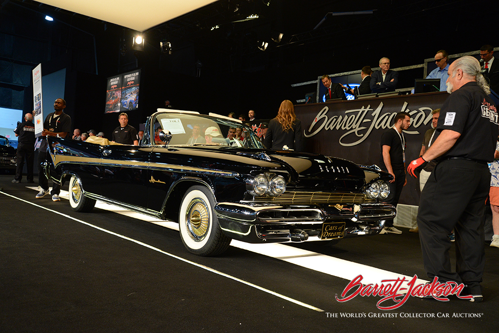 LOT #718.1 – 1959 DESOTO ADVENTURER CONVERTIBLE (from the John Staluppi Cars of Dreams Collection) – $330,000 (A NEW WORLD RECORD AT AUCTION)
