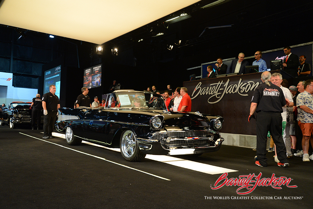 LOT #719 – 1957 CHEVROLET BEL AIR CUSTOM CONVERTIBLE (from the John Staluppi Cars of Dreams Collection) – $275,000