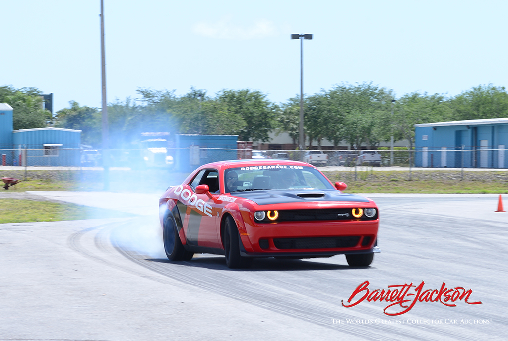 Burning rubber at the Dodge Thrill rides today.