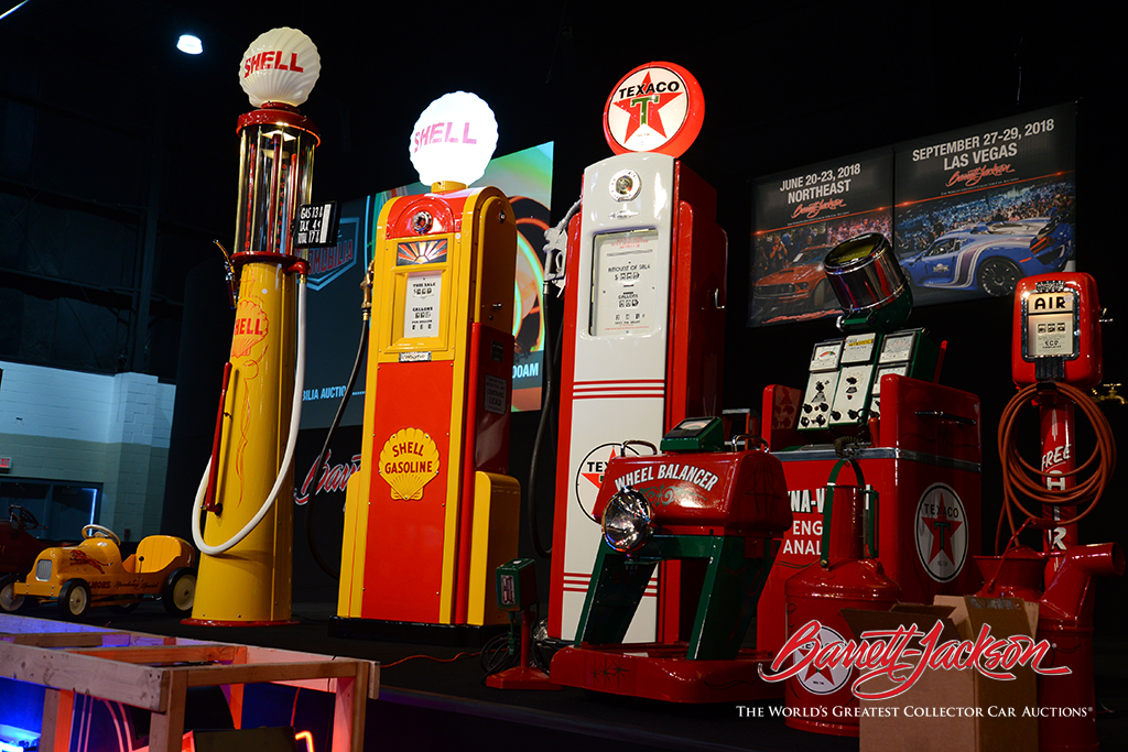 Gas pumps did well at today's Automobilia Auction for the second days in a row, with Lot #6284 – a 1941 Texaco Oil Bennett model #546 restored service station gas pump - taking top honors at $25,300