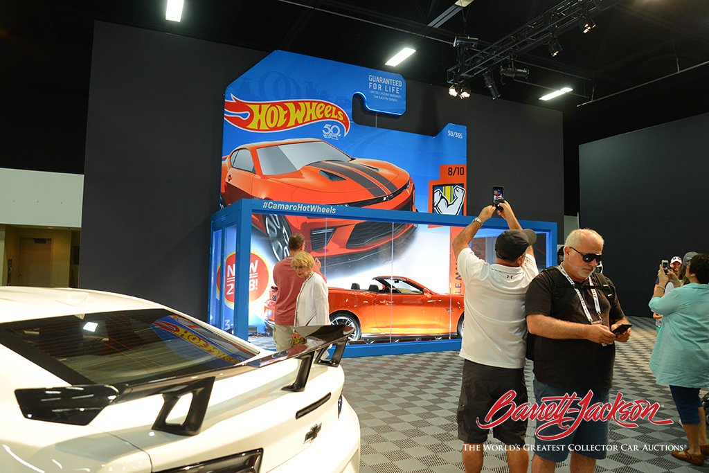 Chevrolet's life-size Hot Wheels car was a big hit with visitors.