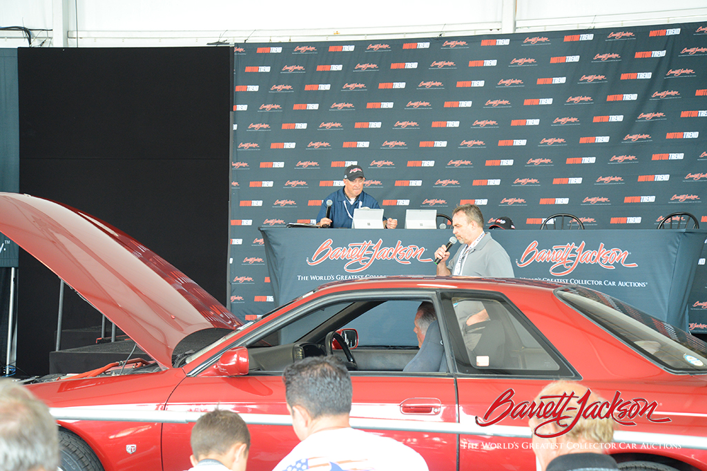 Pat Patterson of Sirius NASCAR Radio and Craig Gussert of Sports Car Market discussed the finer details of auction cars at the Motor Trend Live Stage today.