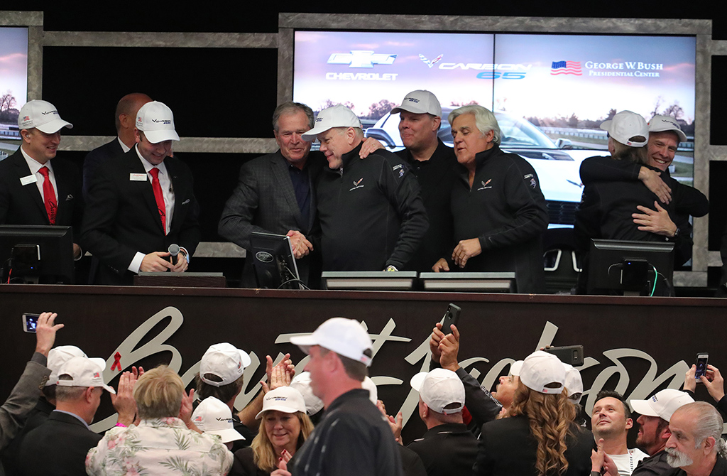 Some of the biggest names in sports, entertainment and politics - such as former U.S. President George W. Bush and Jay Leno (pictured above at the 2018 Scottsdale Auction) - have helped drive the excitement level of the Barrett-Jackson experience.