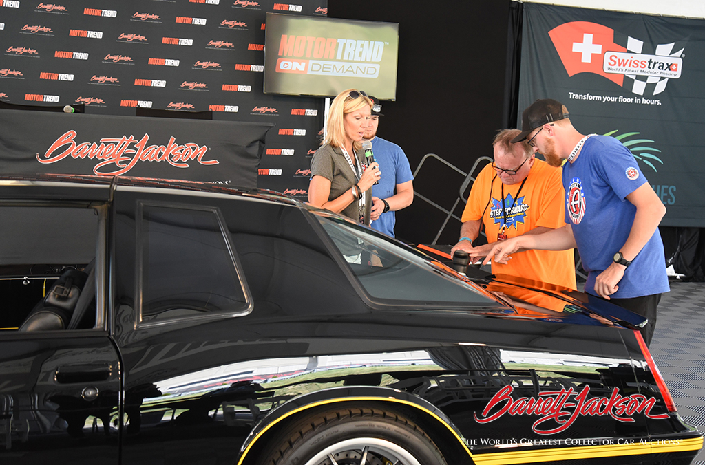 The experts from Adam's Polishes demonstrated car care tips - with audience involvement - at the Motor Trend Live Stage Wednesday.