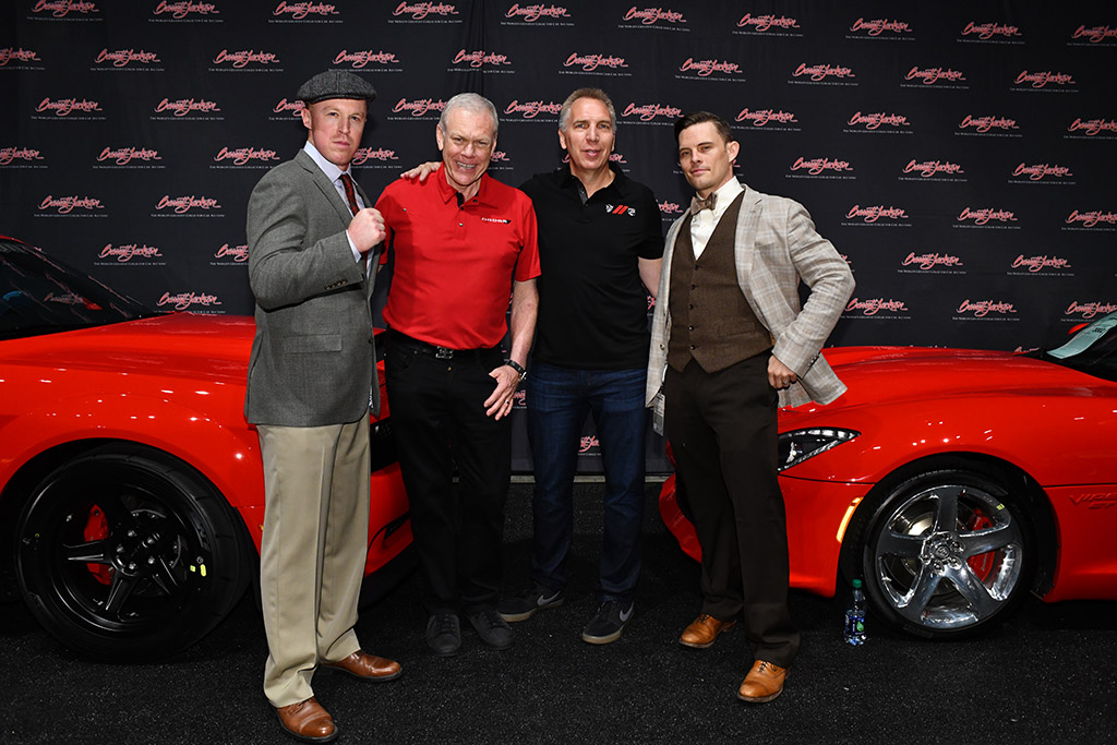 "Commemorating the sale of the last Dodge Viper and last Dodge Demon: the ""Dodge Brothers"" with Barrett-Jackson CEO Craig Jackson and Dodge/SRT/Motorsports head of Marketing & Communications Mark Malmstead."