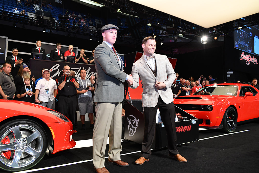 The Dodge Brothers traveled from the past to be there for the $1 million sale of the last Viper and last Demon.