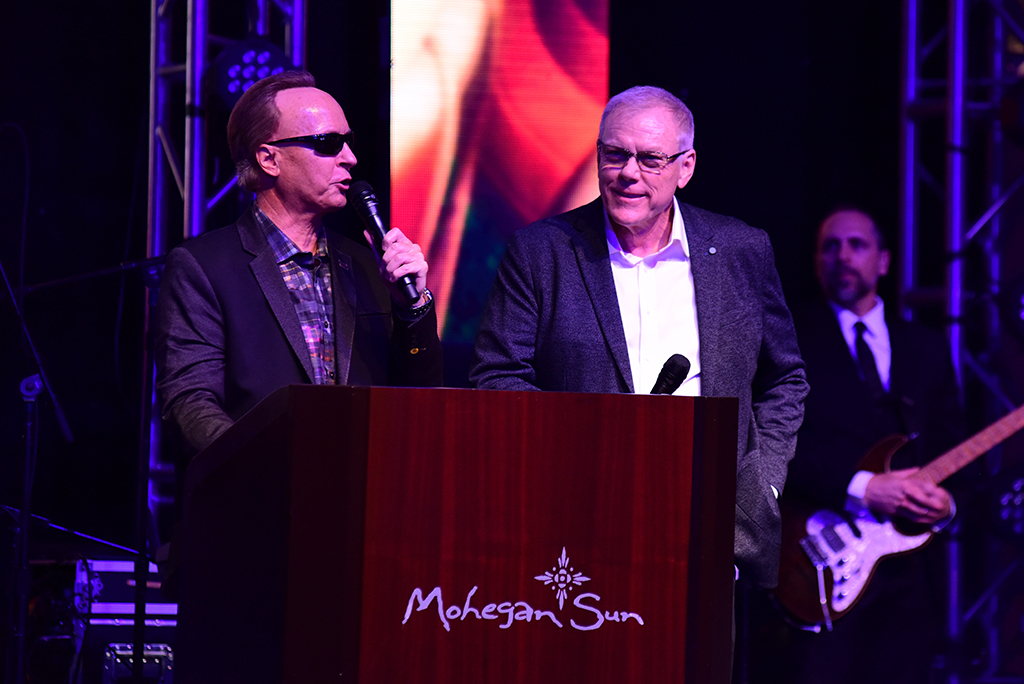Barrett-Jackson President Steve Davis and CEO Craig Jackson at the Opening Night Gala.
