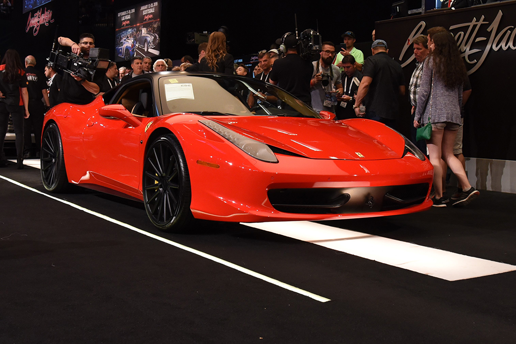 A winning bid of $170,500 took home this beautiful 2010 Ferrari 458 Italia.