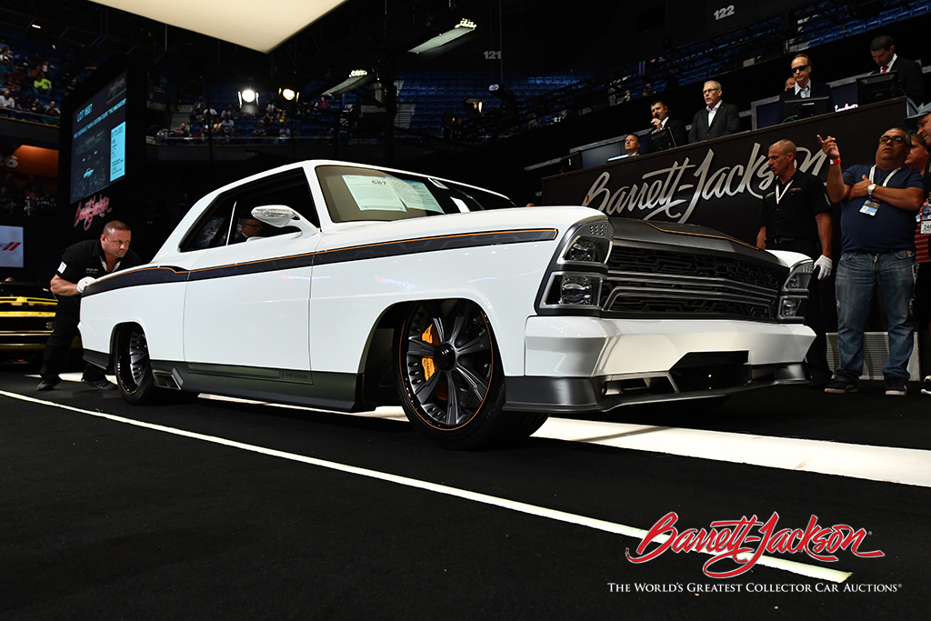 "Lot #687 – 1967 CHEVROLET NOVA CUSTOM COUPE ""THE INNOVATOR"" - $275,000"