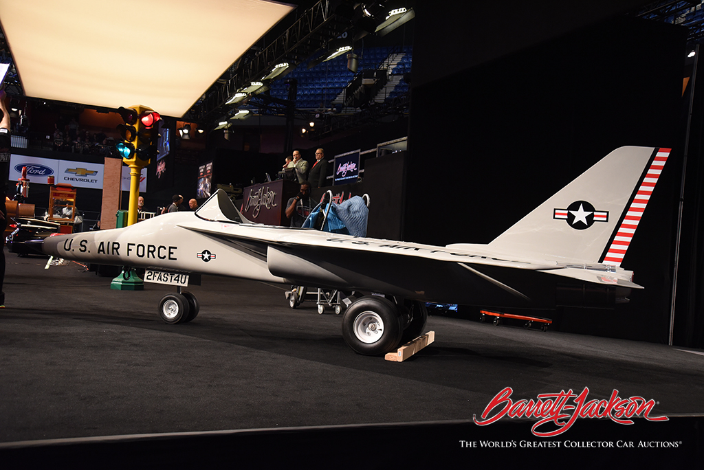 Tying for top spot in the automobilia sales on Saturday was this vintage recruiting U.S. Air Force Jet promotional go-kart, which sold for $28,175.