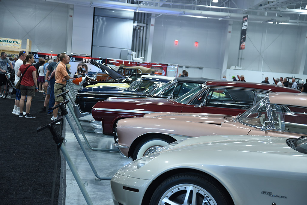Auction-goers enjoyed viewing the nearly 700 collector cars on display around the site prior to their turn on the block.