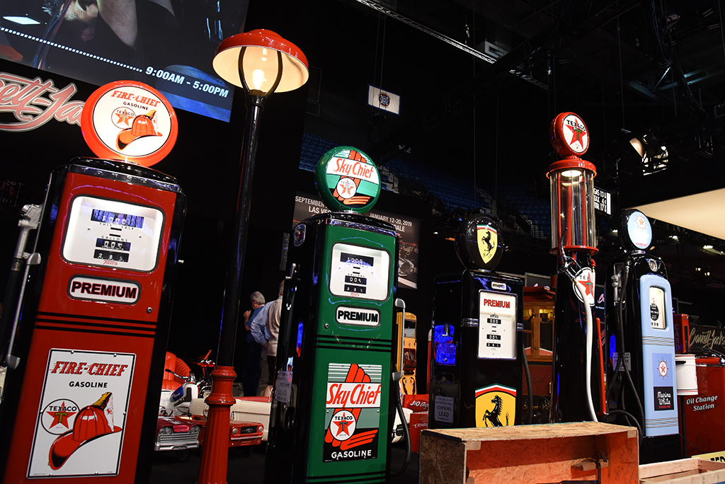 Beautifully restored gas pumps are always among the top sellers at the Automobilia Auction.