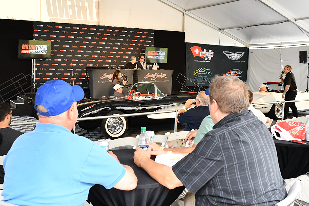 Relaxing and learning more about collector cars at the Motor Trend Live Stage.