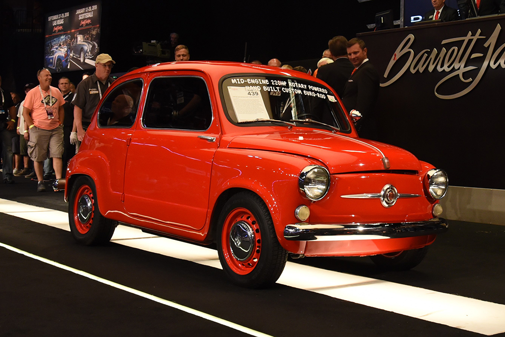 "This custom 1959 Fiat 600 is known as the ""Angry Mosquito."""