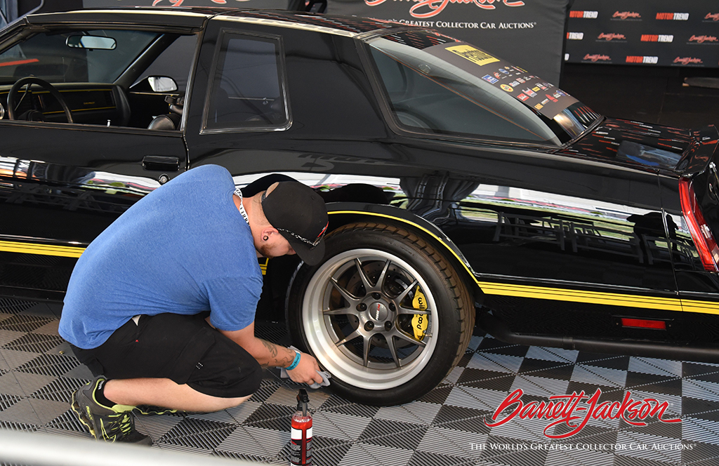 Tire detailing demo by Adam's Polishes.